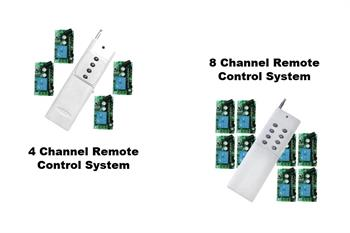 4 or 8 channel remote control system for propane cannon